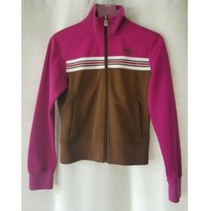 The North Face S pink/brown full zip jacket